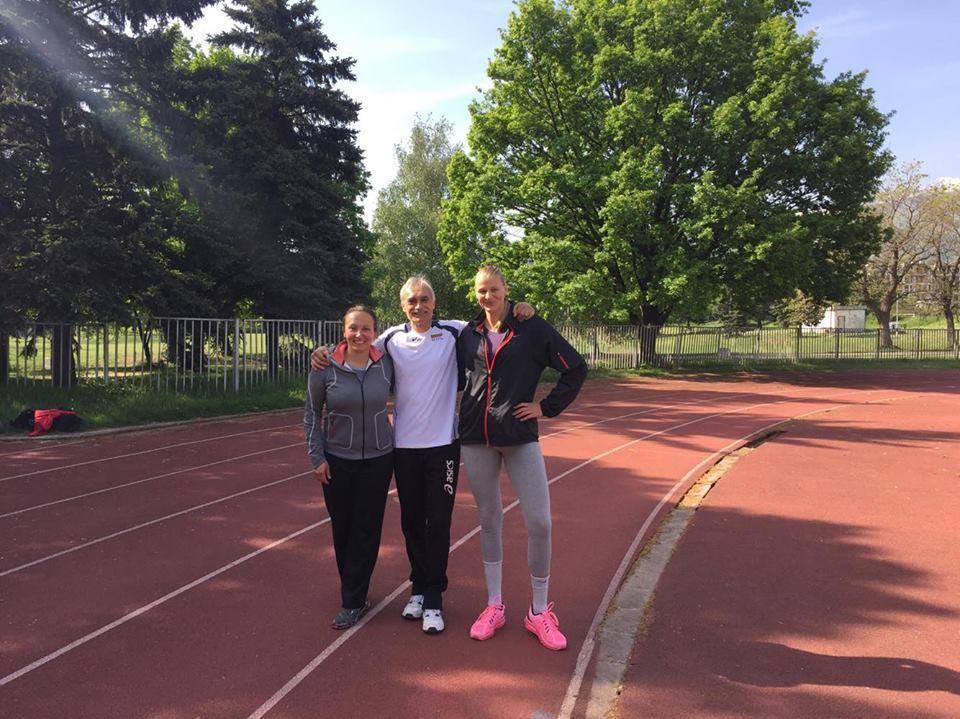 На тренировка с Евгения Раданова и Страши Филипова