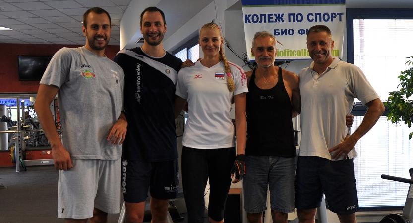 Валентин Братоев, Матей Казийски и Страшимира Филипова в JK GYM Nautilus