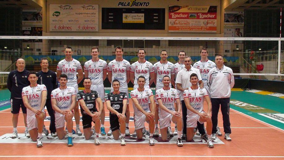 С волейболния отбор на Тренто (Италия)