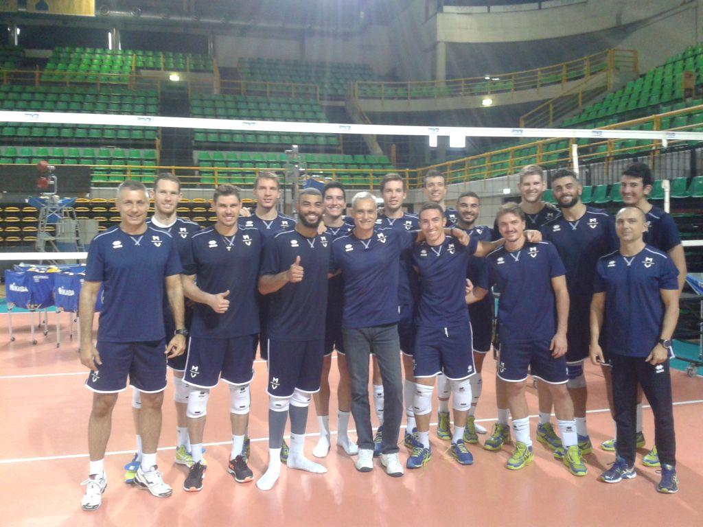 С отбора по волейбол на Модена (Италия)